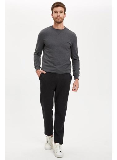 DeFacto Slim Fit Bağcıklı Pantolon Antrasit
